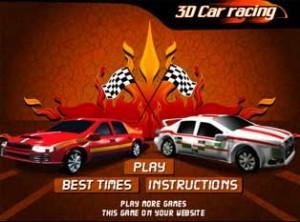 3D car racing